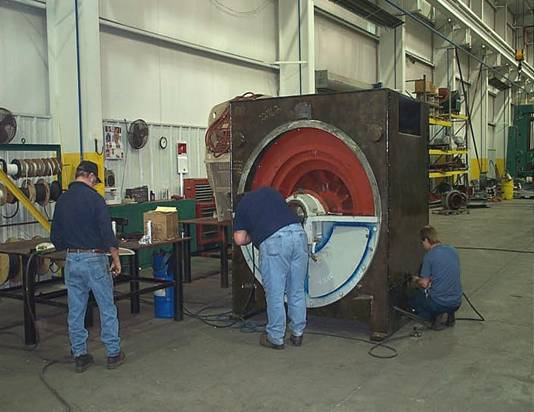 Smith Services workforce assembles a 3,000 HP motor from a power generation plant.